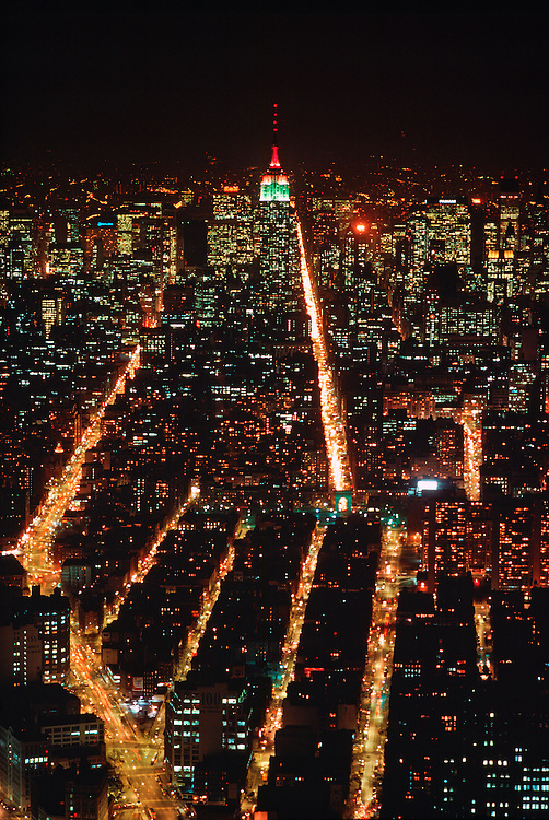 View From Twin Towers, World Trade Center, of the  Skyline of Manhattan, New York City, New York, USA