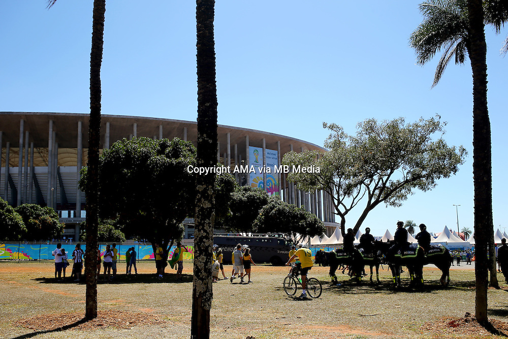 The National Stadium / Estadio Nacional Mane Garrincha in Brasilia, Brazil, host venue of the FIFA 2014 World Cup