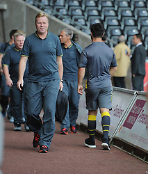 Southampton Manager, Ronald Koeman walks into the liberty Stadium. - Photo mandatory by-line: Alex James/JMP - Mobile: 07966 386802 20/09/2014 - SPORT - FOOTBALL - Swansea - Liberty Stadium - Swansea City v Southampton  - Barclays Premier League