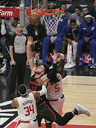 December 17, 2018 - Los Angeles, California, United States of America - Jusuf Nurkic #27 of the Portland Trailblazers goes for a layup during their NBA game with the Los Angeles Clippers on Monday December 17, 2018 at the Staples Center in Los Angeles, California. Clippers lose to Trailblazers, 127-131. JAVIER ROJAS/PI (Credit Image: © Prensa Internacional via ZUMA Wire)