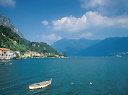 View of Lake Lugano from San Mamete<br /> Lombardy, Italy