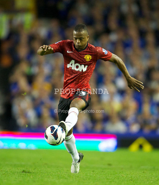 LIVERPOOL, ENGLAND - Monday, August 20, 2012: Manchester United's Patrice Evra in action against Everton during the Premiership match at Goodison Park. (Pic by David Rawcliffe/Propaganda)