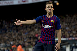 October 28, 2018 - Barcelona, Catalonia, Spain - Arthur during the spanish league match between FC Barcelona and Real Madrid at Camp Nou Stadium in Barcelona, Catalonia, Spain on October 28, 2018  (Credit Image: © Miquel Llop/NurPhoto via ZUMA Press)