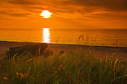 Sunset on the Gulf of St. Lawrence on Cape Nreton<br /> Pleasant Bay<br /> Nova Scotia<br /> Canada