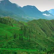 Mountains ner Sa Pa, Vietnam