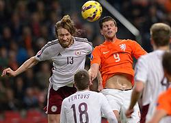 16-11-2014 NED: EK Kwalificatie Nederland - Letland, Amsterdam<br /> Nederland wint in de Arena met 6-0 van Letland / Klaas-Jan Huntelaar