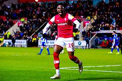 Chiedozie Ogbene of Rotherham United celebrates his goal - Mandatory by-line: Ryan Crockett/JMP - 18/01/2020 - FOOTBALL - Aesseal New York Stadium - Rotherham, England - Rotherham United v Bristol Rovers - Sky Bet League One