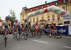 Cyclists just after the start in last 4th stage of the 15th Tour de Slovenie from Celje to Novo mesto (157 km), on June 14,2008, Slovenia. (Photo by Vid Ponikvar / Sportal Images)/ Sportida)