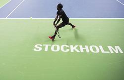 October 17, 2017 - Stockholm, SVERIGE - 171017 Sveriges Elias Ymer i första omgÃ¥ngen av tennisturneringen Stockholm Open den 17 april 2017 i Stockholm  (Credit Image: © Johanna Lundberg/Bildbyran via ZUMA Wire)