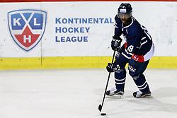 Edwin Hedberg of KHL Medvescak Zagreb before KHL League ice hockey match between KHL Medvescak Zagreb and CSKA Moscow, on November 16, 2015 in Dvorana Sportova, Zagreb, Croatia. (Photo By Matic Klansek Velej / Sportida)