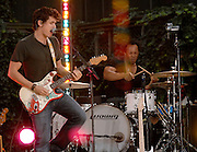 John Mayer performs on the Good Morning America Summer Concert Series in Bryant Park on Friday, July 20, 2007 in New York.