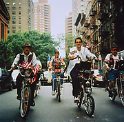 Men Riding their customised Schwinn bikes, New York, USA 1990's