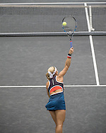 Dominika Cibulkova (SVK) during the semi finals of the WTA Generali Ladies Linz Open at TipsArena, Linz<br /> Picture by EXPA Pictures/Focus Images Ltd 07814482222<br /> 15/10/2016<br /> *** UK &amp; IRELAND ONLY ***<br /> <br /> EXPA-REI-161015-5000.jpg