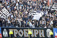 FUDBAL, BEOGRAD, 07. Nov. 2010. -  Navijaci Partizana. Utakmica 11. kola Jelen Superlige Srbije (2010/2011) izmedju BSK Borca i Partizana. Foto: Nenad Negovanovic