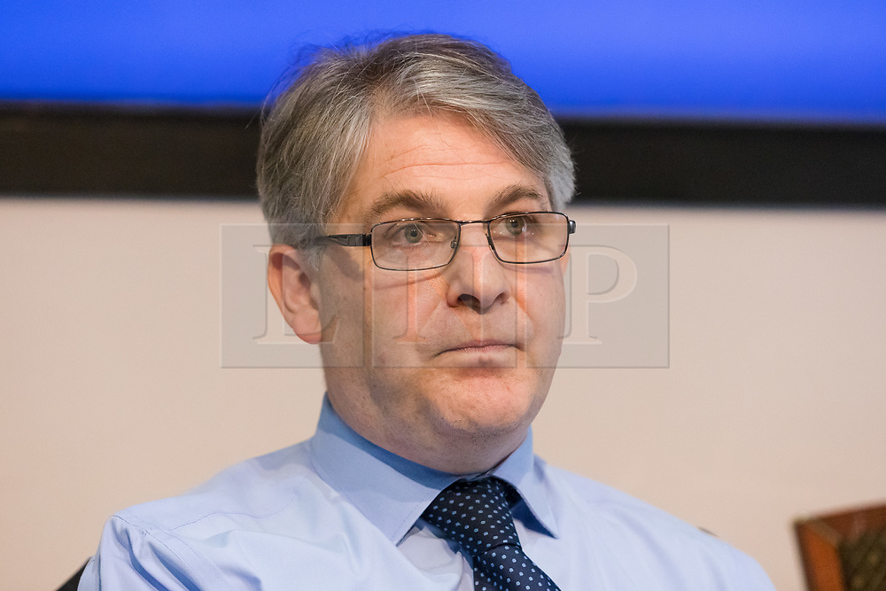 "© Licensed to London News Pictures. 10/06/2019. London, UK.  Philip Davies MP listens to Tory leadership candidate, Esther McVey make a speech pro Brexit speech about ""Taking Back Control of Britain's EU Exit"" at a Bruges Group event held in Westminster. Many of the Tory leadership candidates are holding launch events in the capital today. Photo credit: Vickie Flores/LNP"