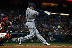 SAN FRANCISCO, CA - APRIL 08: Manny Machado #13 of the San Diego Padres at bat against the San Francisco Giants during the fourth inning at Oracle Park on April 8, 2019 in San Francisco, California. The San Diego Padres defeated the San Francisco Giants 6-5. (Photo by Jason O. Watson/Getty Images) *** Local Caption *** Manny Machado
