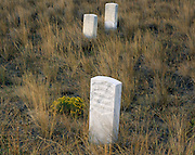 AA02268-02...MONTANA - Grave markers on Deep Ravine Trail at Custer Battlefield in Little Bighorn Battlefield National Monument.