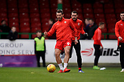 Marc Richards of Swindon Town warms up during the EFL Sky Bet League 2 match between Swindon Town and Lincoln City at the County Ground, Swindon, England on 12 January 2019.