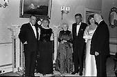 John F. Kennedy attends dinner at Áras an Uachtaráin - 28/06/1963