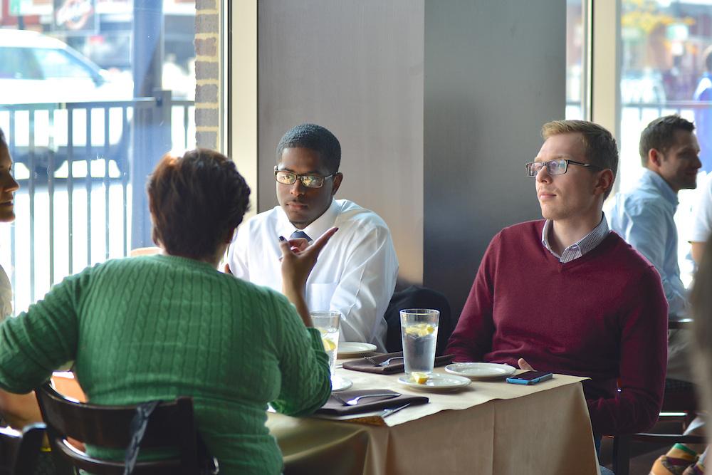 Guests dining at Bricco.