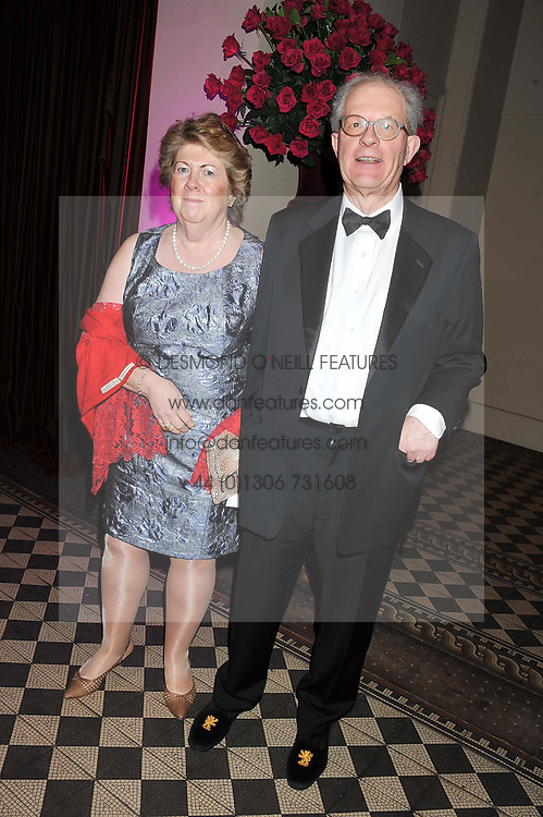 BARONESS GOUDIE and her husband JAMES GOUDIE at the Red & Black Valentine's Dinner & Dance in aid of The Eve Appeal at One Mayfair, North Audley Street, London W1 on 14th February 2013.
