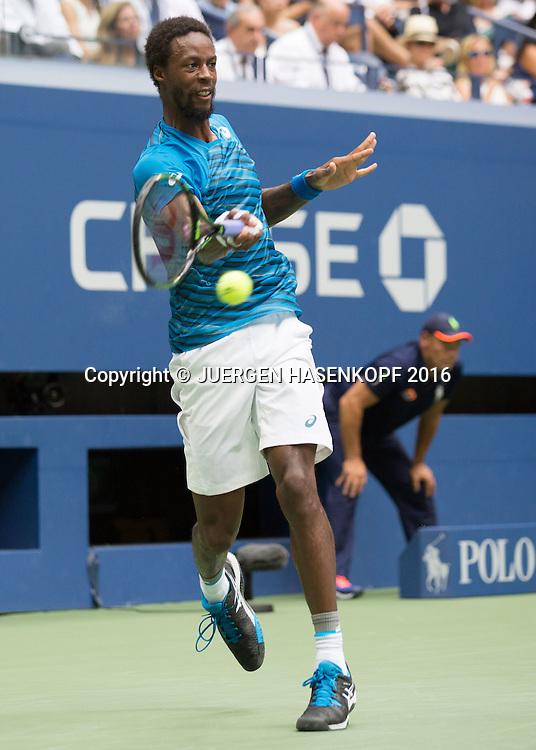 GAEL MONFILS (FRA)<br /> <br /> Tennis - US Open 2016 - Grand Slam ITF / ATP / WTA -  USTA Billie Jean King National Tennis Center - New York - New York - USA  - 9 September 2016.