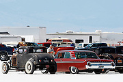 The best cars-people-atmosphere-photos of 2009 Bonneville Speed Week- Classic cars are parked in the fan viewing area, August 9, 2009.  Photos by Colin E. Braley