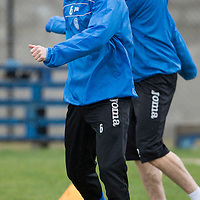 St Johnstone Training....21.03.14<br /> Steven Anderson and Dave Mackay pictured in training this morning ahead of tomorrow's game against Hibs<br /> Picture by Graeme Hart.<br /> Copyright Perthshire Picture Agency<br /> Tel: 01738 623350  Mobile: 07990 594431