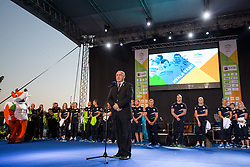 Bogdan Gabrovec during reception of Slovenian Olympic Team at BTC City when they came back from Rio de Janeiro after Summer Olympic games 2016, on August 26, 2016 in Ljubljana, Slovenia. Photo by Matic Klansek Velej / Sportida