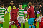 Celtic Captain Scott Brown during the Europa League match between Celtic and CFR Cluj at Celtic Park, Glasgow, Scotland on 3 October 2019.