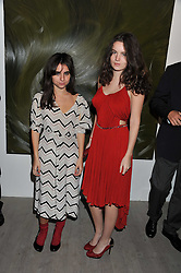 Left to right, ASSISI JACKSON and AMBA JACKSON daughters of Jade Jagger at Arts for Human Rights gala dinner in aid of The Bianca Jagger Human Rights Foundation in association with Swarovski held at Phillips de Pury & Company, Howick Place, London on 13th October 2011.