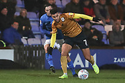 Crewe Alexandra midfielder Daniel Powell in action  during the EFL Sky Bet League 2 match between Macclesfield Town and Crewe Alexandra at Moss Rose, Macclesfield, United Kingdom on 21 January 2020.