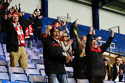 Fleetwood Town fans celebrate as David Ball of Fleetwood Town scores to make it 3-0 - Mandatory by-line: Dougie Allward/JMP - 05/04/2017 - FOOTBALL - Kassam Stadium - Oxford, England - Oxford United v Fleetwood Town - Sky Bet League One