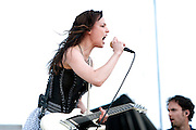 Halestorm performing at Carolina Rebellion at Metrolina Expo in Charlotte, NC on May 7, 2011