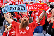 May 24, 2017: Liverpool crowd at the soccer match, between English Premiere League team Liverpool FC and Sydney FC, played at ANZ Stadium in Sydney, NSW Australia.