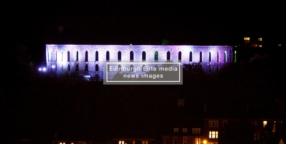 McCaig's Tower in Oban with special lighting effects this evening to mark the STV's Children's Appeal....... (c) Stephen Lawson | Edinburgh Elite media