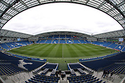 A general view of the stadium before the EFL Sky Bet Championship match between Brighton and Hove Albion and Wigan Athletic at the American Express Community Stadium, Brighton and Hove, England on 17 April 2017.