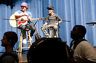 SANFORD, FL -  AUGUST 5  Justin Bieber watchers band camp students perform at Seminole High School in Sanford, Florida, on August 5, 2010. Bieber was on hand as part of a Best Buy and Grammy Foundation donation to the music program at Seminole High School.(Photo by Matt Stroshane/Getty Images)