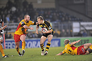 Twickenham, GREAT BRITAIN, Wasps, Josh LEWSEY attacking during the second half of the EDF Energy Cup rugby match,  London Wasps vs Newport Gwent Dragons, at Adam Stadium, on 02.11.2008 [Photo, Peter Spurrier/Intersport-images]