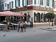 The Angry Friar traditional British pub, Gibraltar, British overseas territory in southern Europe