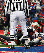 Tom Brady scores on a quarterback keeper, New England Patriots @ Buffalo Bills, 11 Dec 05, 1pm, Ralph Wilson Stadium, Orchard Park, NY