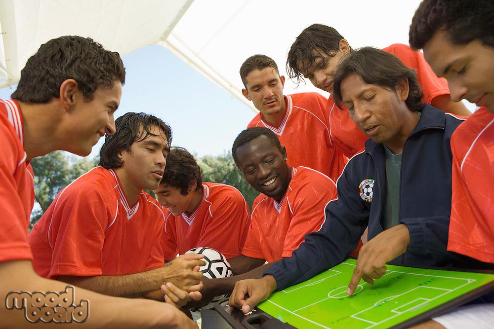 Coach Explaining Soccer Play
