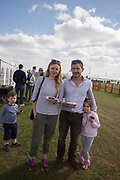 ESTHER COREN; GILES COREN; SAM; KITTY, Heythrop Point to Point, Cocklebarrow, 2 April 2017.