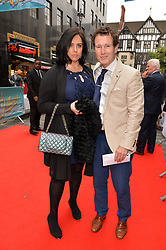 Nick Moran, Jasmine Moran arriving at The opening night of Wind in The Willows at the London Palladium, Argyll Street, London England. 29 June 2017.<br /> Photo by Dominic O'Neill/SilverHub 0203 174 1069 sales@silverhubmedia.com
