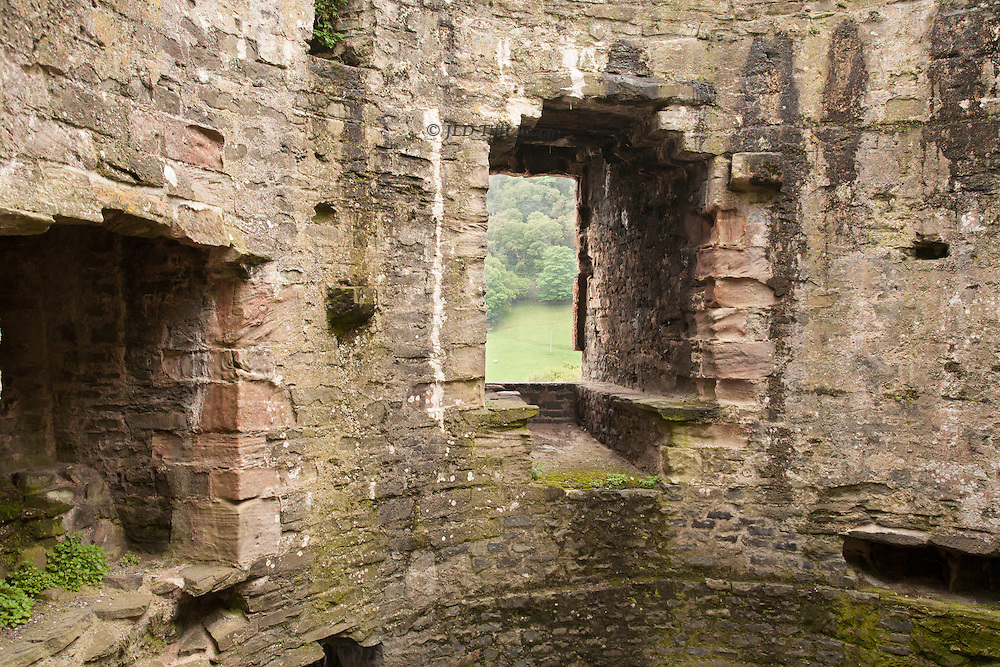 Views of the ruins of Conwy Castle, Conwy, Wales.  Interior.