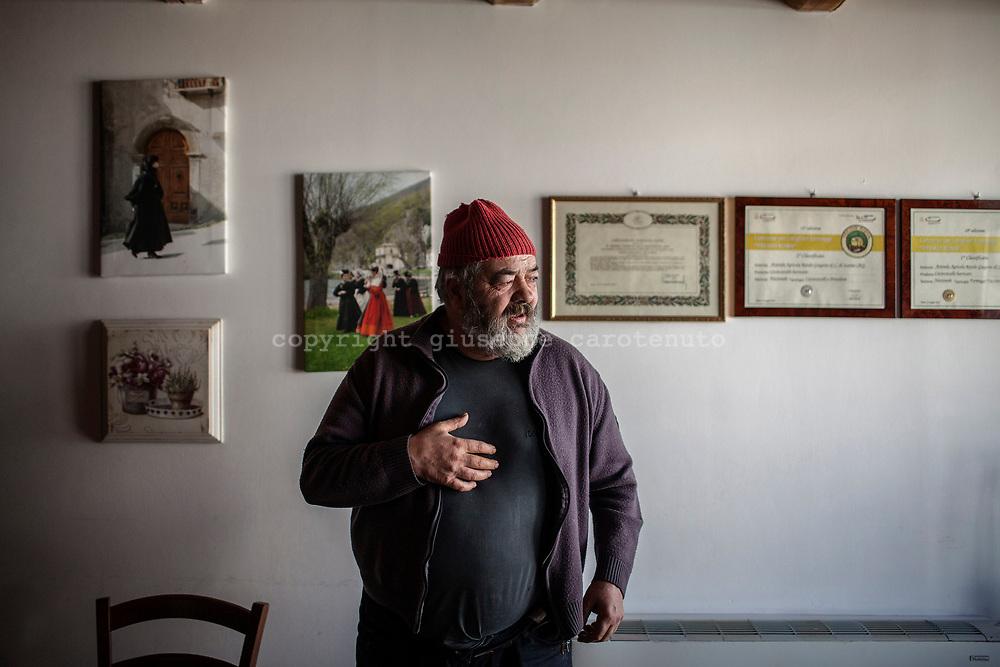 16 February 2017, Scanno - Mr. Rotolo Gregoro, 56 years, owner of the Rotolo farm.