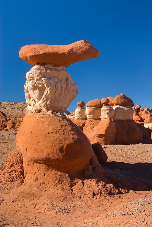 Odd shaped hoodoos in Little Egypt, a small geologic site in southern Utah