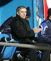 Photo: Lee Earle.<br /> Portsmouth v Chelsea. The Barclays Premiership.<br /> 26/11/2005. Chelsea manager Jose Mourinho.