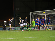 30th January 2018, Tulloch Caledonian Stadium, Inverness, Scotland; Scottish Cup 4th round replay, Inverness Caledonian Thistle versus Dundee; Dundee's Jack Hendry's shot comes off the cross bar