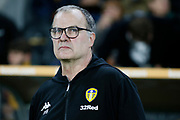 Leeds United Manager Marcelo Bielsa during the EFL Sky Bet Championship match between Hull City and Leeds United at the KCOM Stadium, Kingston upon Hull, England on 2 October 2018.